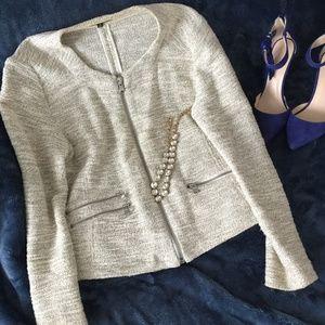 Premise Studio blazer w/ exposed zipper details